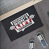 Moslion Motivational Quote Doormat Weights Don't