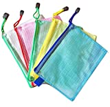 Laris A4 Size Document Paperwork Zipper Bag Waterproof Heavy Duty Toy Bag, Kids Puzzle Storage Bag, Stationary Bags Pack of 15