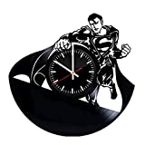 Welcome Everyday Arts Superman Vinyl Record Wall Clock - Get unique garage or kids room wall decor - Gift ideas for girls and boys, teens – DC Comics Unique Design