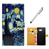 Huawei P8 Lite Case Wakso Flip PU Leather Wallet Case with Stand Function Cover Anti-Shock Protective Case - Flood