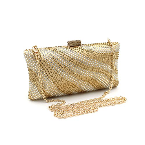 Flada - Cartera de mano para mujer plateado plata mediano dorado ...
