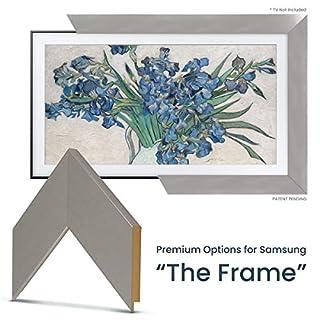 "Deco TV Frames - Brushed Stainless Frame Custom for Any Size Samsung The Frame TV (75"")"