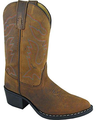 Smoky Mountain Girls' Dakota Western Boot Round Toe Brown 2.5 D(M) US