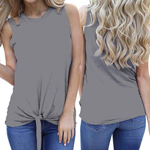 Amazon.com: Tank Tops, FORUU Women Casual Summer Sexy Solid Plain Cut Tie Front Crop Camis: Clothing