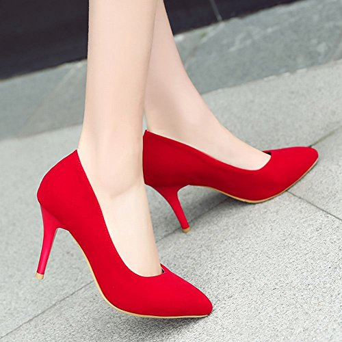 MissSaSa Elegante Scarpe Rosso Casual Donna Tacco e col Alto rvrHqWP4