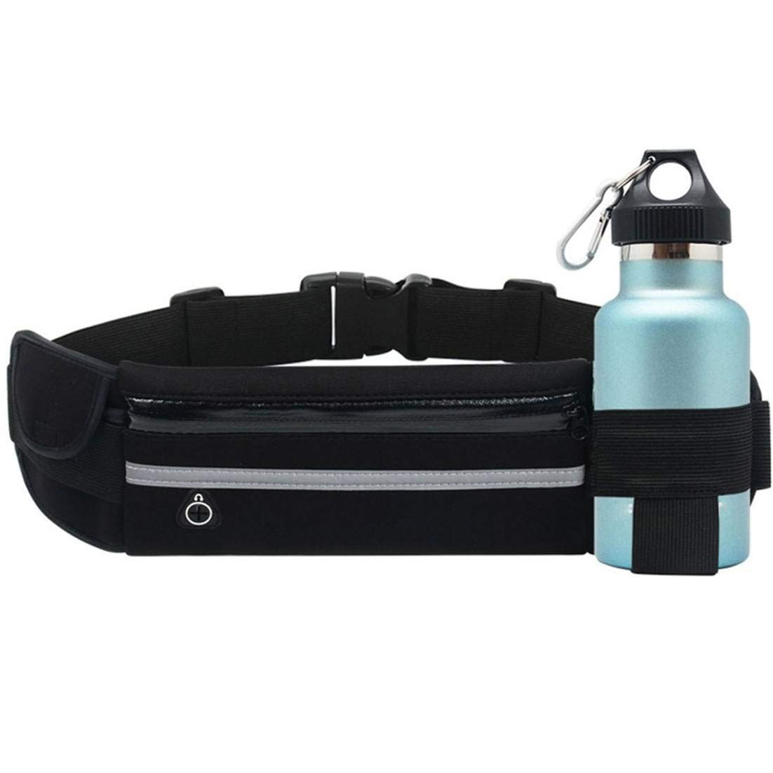 Ri/ñonera Running Compatible con iPhone XS MAX con Banda reflectiva Bolsillos Botella Agua Entrada Auriculares Correa Regulable Transpirable Impermeable antisudor