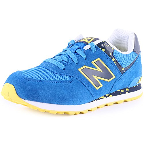 New Balance Speckled Print 574 Kids Synthetic & Mesh Trainers Blue - 37 EU