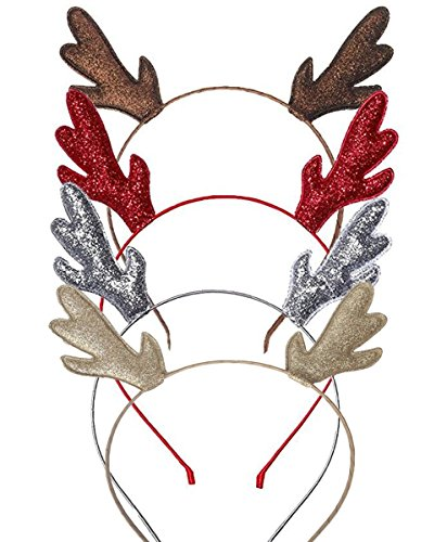 AOZKY Deer Antlers Reindeer Headband Costume Christmas Halloween Holiday Party