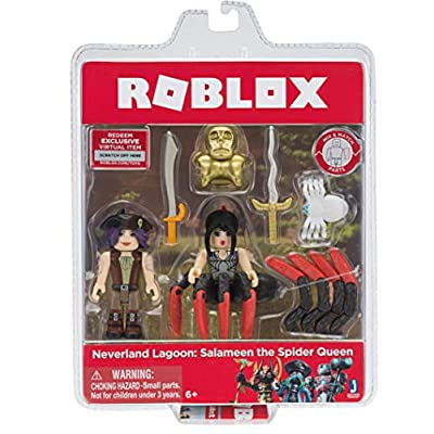 Roblox Action Collection - Neverland Lagoon: Salameen The Spider Queen Game Pack [Includes Exclusive Virtual Item]: Toys & Games