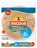 Mission Carb Balance Burrito Whole Wheat Tortillas | Low Carb, Keto, Whole Grains | High Fiber, No Sugar | Large Size | 8 Count