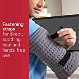 Sunbeam Wrapping Heating Pad for Fast Pain Relief | Small XpressHeat, 6 Heat Settings with Auto-Shutoff and Fastening Straps | Grey, 12 x 11 Inch, Small