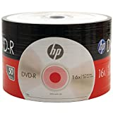 HP DVD-R47 16x Full Logo Surface 50pks Bulk Color Wrap