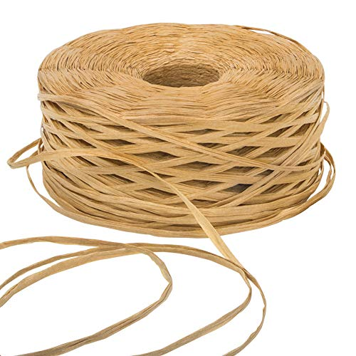 EOOUT 459 Yards Kraft Raffia Paper Ribbon Packing Paper Twine for Gift Wrap and Decoration