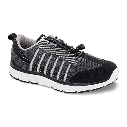 Apex Mens A7000MX095 Running Shoe Black/Grey CEAPU9