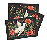 """""""Peace on Earth"""" Christmas Holiday Postcards by Rifle Paper Co. -- Set of 10"""