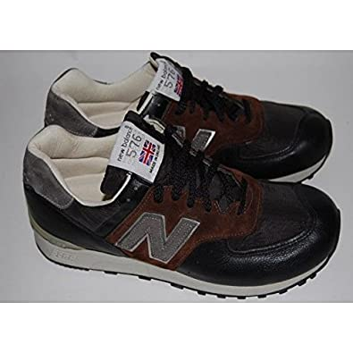 size 40 c0916 cd620 NEW BALANCE 576 LBL Brown leather-Black-Made in England ...