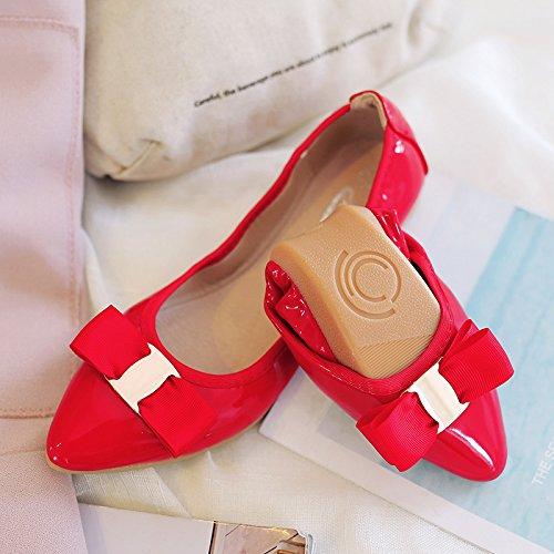 Zapatos Suave Cake Y Plano El Zapatos Plana Mujer Punta Zapatos 41 Zapatos 45 Números Grandes Mujeres Con Fondo De Embarazadas Luz De Solo rojo Agradable De GAOLIM g6Y0q6