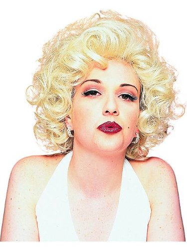 Hollywood Actress Fancy Dress Costumes (Marilyn Monroe Wig in Blonde)