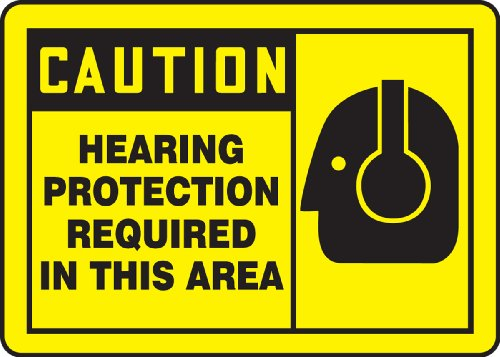 Protection Required (Accuform Signs MPPE410VP Plastic Safety Sign, Legend