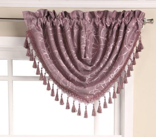Editex Home Textiles Splendid cascada cenefa, 47por 37-Inch, lila