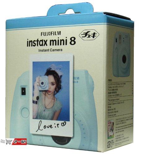 New Model Fuji Instax 8 Color Blue Fujifilm Instax Mini 8 Instant Camera + 100 Films