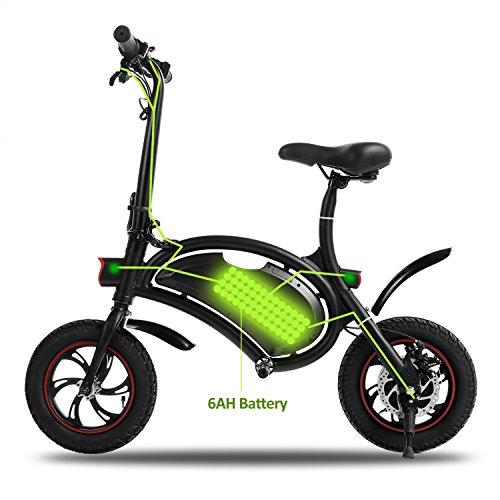 AIMADO Mini-Scooter Électrique Urbain - DEUX-ROUES DAUPHIN- Véhicule Électrique Léger, Batterie Lithium 36V, Connecté Bluetooth Système d'éclairage (EU Stock)