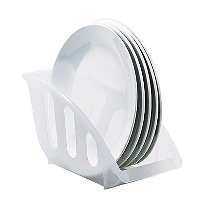 Amazon Com Plate Rack Dish Rack Vertical Dish Storage Rack Plastic