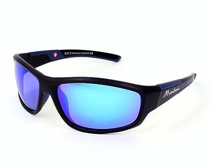 Montana gafas de sol SP 311 B Plástico Matt Negro - Azul Gris polarizado con efecto