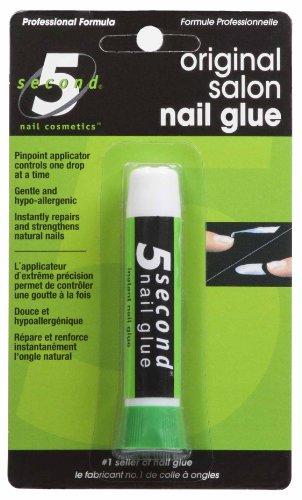 5 Second Nail Artificial Nails - 5 Second Nail Salon Nail Glue,