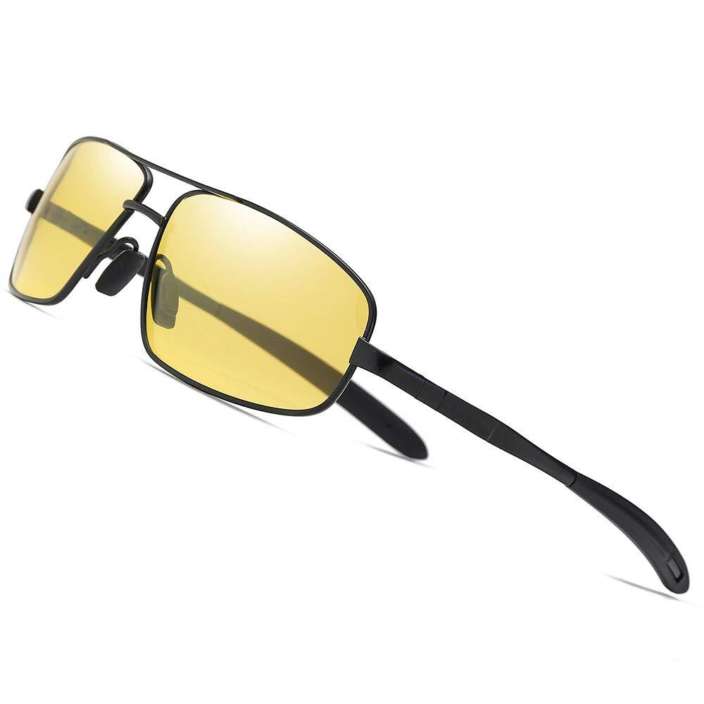 Black Yellow TAC HD Polarized Sunglasses For Driving New Men Women Sport Coating Mirror Sun Glasses Night Vision night vision sunglasses