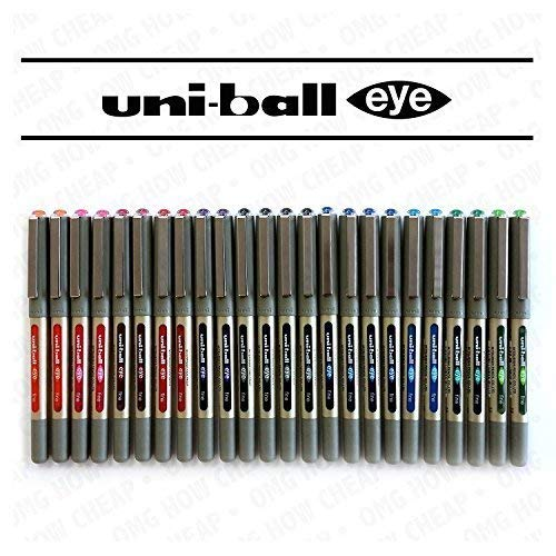 Uni-Ball Eye Fine UB-157 Rollerball Coloured Pens Assorted Colours Pack of 24 Limited Edition by Uni-ball (Image #1)