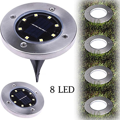 LiPingSolar Ground Lights Outdoor, Wireless Solar Security Night Light Dusk to Dawn Solar Powered Path Lights for Home, Garden, Driveway, Patio, Yard (B) For Sale