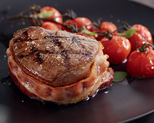 Bacon Wrapped Filet Mignon - Kansas City Steaks 8 (5oz.) Super Trimmed Filet Mignon with Bacon