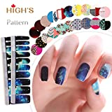 HIGH'S Pattern Series Manicure Nail Polish Strips Nail Wraps, Galaxy