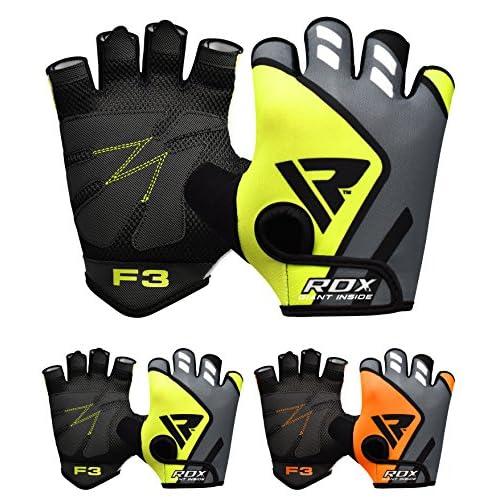 RDX Gants de Musculation Poignet workout Crossfit Entrainement Fitness Gymnastique Vachette Powerlifter Perméable à l'air Halterophilie Gym Gloves