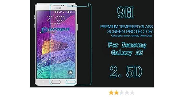 Protector Pantalla Cristal Vidrio Templado Samsung Galaxy A3: Amazon.es: Electrónica
