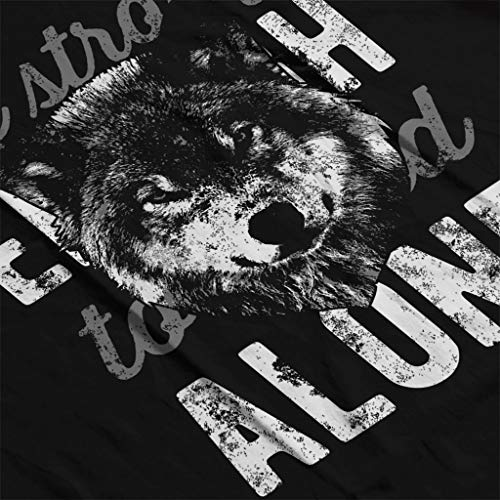 Black Coto7 Hooded Women's Alone Wolf Strong Be Sweatshirt 7XUwr0qXx