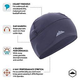 Skull Cap / Helmet Liner / Running Beanie - Ultimate Performance Moisture Wicking. Fits under Helmets