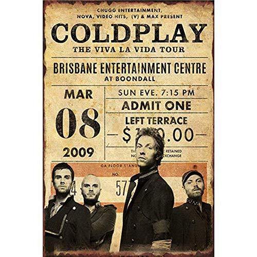 Coldplay The Viva La Vida Tour 金属板ブリキ看板注意サイン情報サイン金属安全サイン警告サイン表示パネル