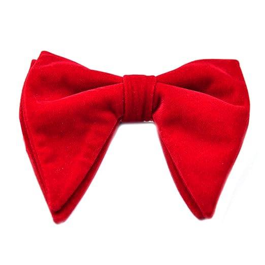 PENG Terciopelo para Hombre Vintage de Doble Capa Corbata de Lazo ...