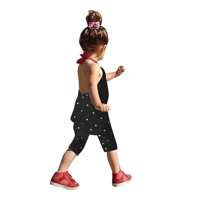 Bekleidung Longra Kleinkind Kind Baby Mädchen Riemen Overalls Stück Hosen Rompers Jumpsuits Mädchen Sommerkleidung(1-6Jahre)