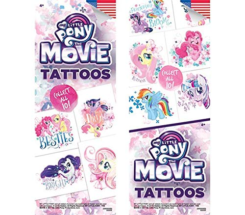 My Little Pony Set of 10 Tattoos - Great for Party Favors! 2.5x3.5 Inches