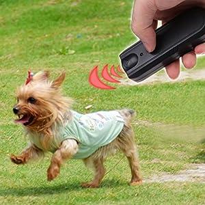 NNDA CO Dog Repellent, LED Ultrasonic Anti-Bark Aggressive Dog Pet Repeller Barking Stopper Deterrent Train, ABS,Black 1