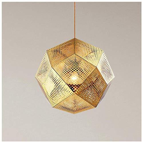 Creative Geometry Box Chandelier Bedroom Restaurant Decorating Lighting Attic Corridor Foyer Ambient Light (Color : Gold, Size : 25cm)