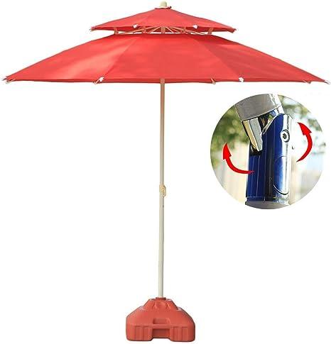 LNDDP Sombrillas Sombrilla jardín para Patio 7.5 pies/230 cm con inclinación botón, Patio al Aire Libre, Mercado Eventos comerciales en la Playa, Camping, Junto a la Piscina (Color: Rojo, Ta: Amazon.es: Deportes