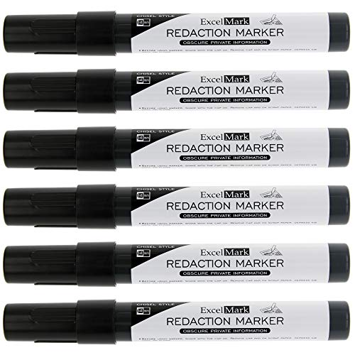 ExcelMark Security Redaction Marker - Blackout Private Information With Our Convenient Redacting Pen (6 Markers) by ExcelMark (Image #6)