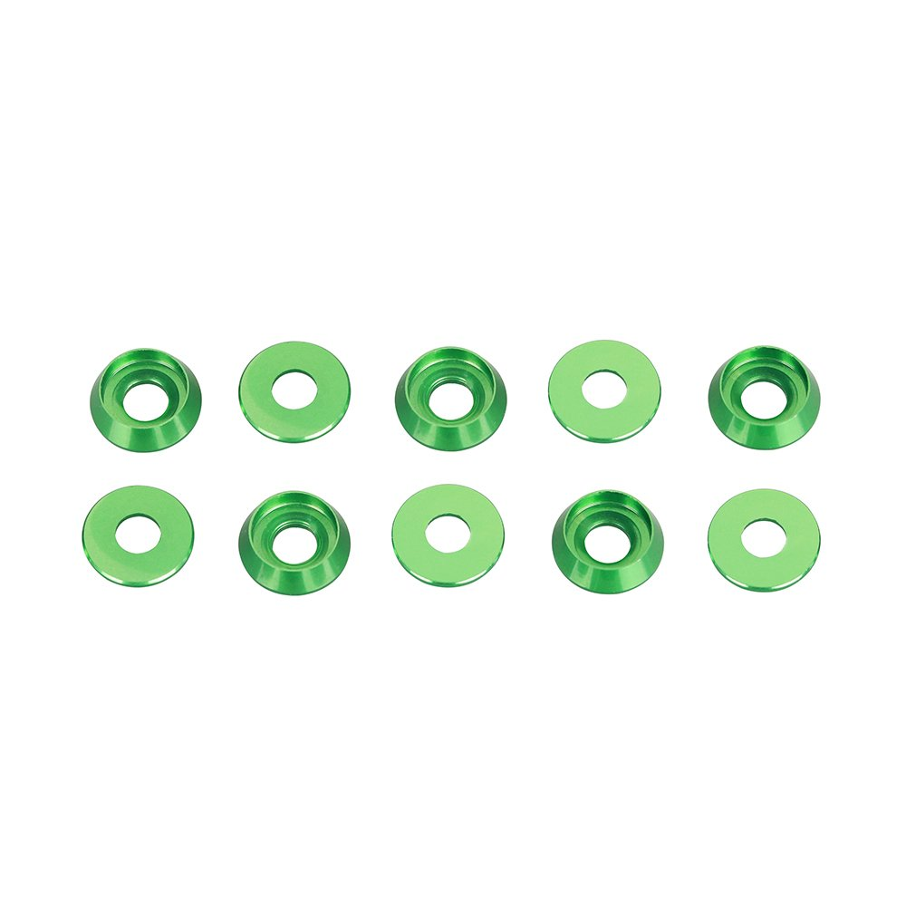 Multicolored Drone Countersunk Cup Head Hex Screw Aluminum Alloy Socket Washer For M3 Screw 50pcs/Lot (Green)