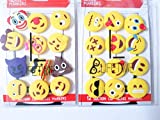 Emoji Charms with Suction 12 Pack, Perfect Markers for Everything from Wine Glass to Red Cups! Lifetime (Combo)