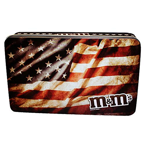 M&M's American Flag Military Collectors Tin - 2.75 Ounces