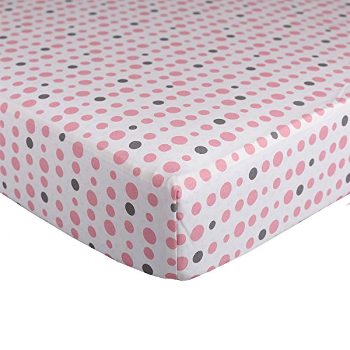 Lolli Living Dots Fitted Sheet, Pink